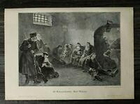 HO1) Holzschnitt 1885-1900 W Schereschewski (1890)- Nach Sibirien Russland Kunst