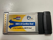 Siig Usb 2.0 Card Bus Dual 2-port Cardbus To Usb 2.0 Pc Card Adapter 02-0659A