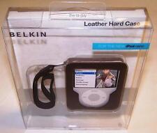 Belkin Leather Hard Case for 3rd Gen 3G iPod Nano Video F8Z235-BRN NEW
