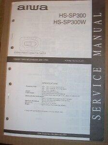 AIWA Service Manual~HS-SP300/SP300W Radio Cassette