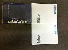 1993 HONDA CIVIC DEL SOL Service Shop Repair Manual SET W Wiring Diagram
