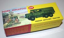 DINKY Reproduction Box 689 Medium Artillery Tractor DIORAMA
