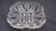 """1889 EAPG Pattern Glass Mikado Fan 5"""" Square Berry Bowl"""