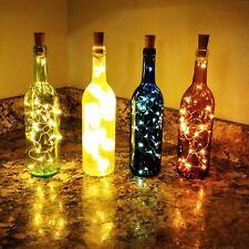 Decorative Lighted Wine Bottles