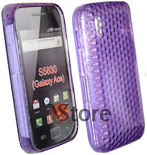Cover For Samsung Galaxy Ace S5830 Viola Gel + Film Save Display