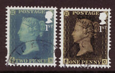 GREAT BRITAIN 2015 PENNY BLACK TWO STAMPS EX MINISHEET  FINE USED