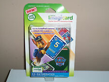 LeapFrog IMAGICARD PAW PATROL LEARNING GAME NEW MATH YEARS 3-5 PATTERNS SHAPES