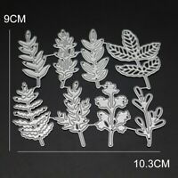 8Pcs Leaves Set for Flowers Metal Cutting Dies Stencil For Scrapbooking DIY