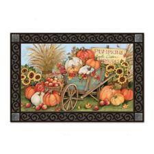 MatMates Pumpkin Wagon Doormat