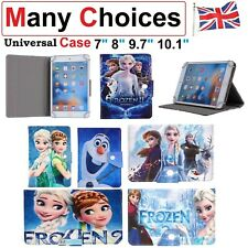"""Universal Case For Any Tab 7"""" 8"""" 9.7"""" 10.1"""" Tablet Cover Disney Frozen Elsa Olaf"""