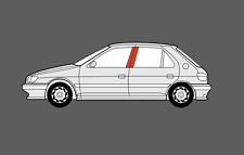 Peugeot 306 5 Door B-Pillars BLACK TEXTURED Decal Foils sticker set (& GTI-6)