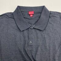 Merona Polo Shirt Men's Size 2XL XXL Short Sleeve Gray Black Casual 100% Cotton