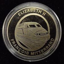 Médaille ELIZABETH II ET FRANCOIS MITTERRAND - TUNNEL SOUS LA MANCHE 6 MAI 1994