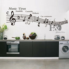 Music Virus Musical Note Removable Vinyl Decal Wall Sticker  Home Room Decor
