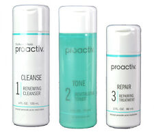 Proactiv Set Of 3 Acne Skin Treatment Exfoliator Toner Oil Control Cleanser60Day