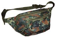 NEU Bauchtasche Gürteltasche Camouflage Doggy Bag Schwarz Braun Grün Tarn Army