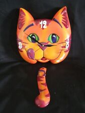 Vintage Mr. Meow Wall Clock Meow Mix As Seen On TV Cat WORKS