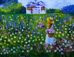 Madison County Flower Farm Natasha Petrosova Original  Painting I256