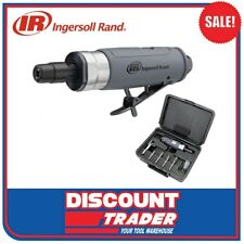 Ingersoll Rand Air Pneumatic Straight Die Grinder Kit with 5 Burrs + Case 308BK