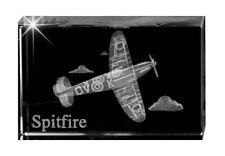 Spitfire Optical Crystal Sculpture Paperweight World War 2