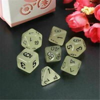 7X/Set TRPG Game Dungeons & Dragons Polyhedral Multi-Sided 1-20 Resin Dice 7