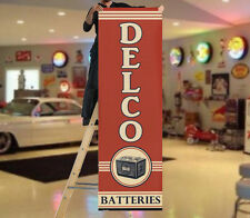 1940's Style Delco Battery Garage Banner Hot Rod Rat Flathead Sign Flag Gas Oil