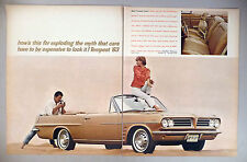 Pontiac Tempest Convertible 2-Page PRINT AD - 1962 ~~ 1963 model
