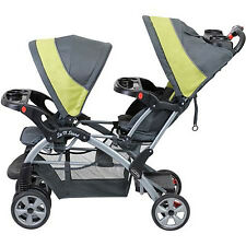 Double Baby Stroller Infant Twins Travel Sun Visor Canopy Compact Folding Dual