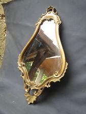 Miroir en résine imitation bois et platre sculpté imitation d'ancien