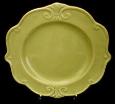 """Embossed Scrolls / All Green By Home DINNER PLATE 10 3/4"""""""