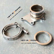 """T3 T3/T4 5 Bolt Turbo Downpipe Flange to 3"""" inch 76mm V Band Conversion Adaptor"""