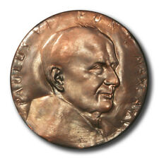 Vatican Pope Paul VI Martyrdom St. Peter & St. Paul High Relief Bronze Medal 196