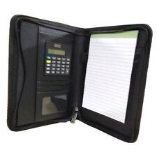 A5 Business Folder Folio Portfolio Zippered Clipboard PU Leather Case #3