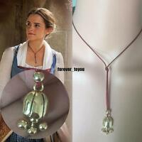 Beauty and the Beast Belle's Lariat Necklace with Leather Rope~Quality~Free Ship