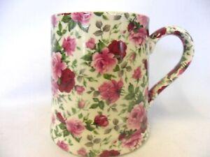 Summertime chintz tankard mug by Heron Cross Pottery