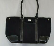 Ralph Lauren Tote Purse Handbag Hand Bag Black SuedeLarge Shopper 19 X 11