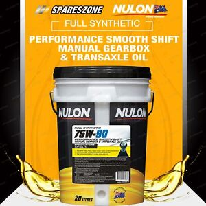 Nulon Full Synthetic 75W-90 Smooth Shift Manual Gearbox Transaxle Oil (20L)