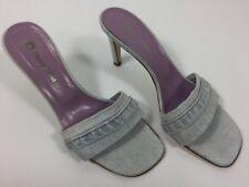 L'AUTRE CHOSE Faded Blue Vintage Style Denim Mules Sandals 39 6