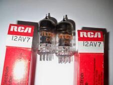 Vintage (2) Pair RCA 12AV7 NOS/NIB Tubes