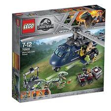 Lego Jurassic World azul Helicóptero Persecución 75928