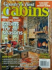 Country's Best Cabins Dec 2014 20 + Floor Plans For All Seasons FREE SHIPPING sb