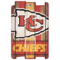 Kansas City Chiefs Defense Holzschild 43 cm NFL Football Fence Sign