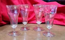 Set Of 4 Vintage Irridescent Champagne Glasses