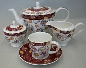 Tea set coffee set 15 piece, good for elderly light and small cups