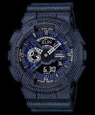 GA-110DC-1A Black/Blue Casio Watches G-Shock 200M Analog Digital X-Large Resin