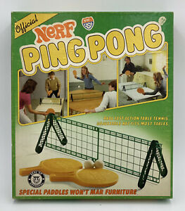 Rare Vintage NERF Ping Pong Table Tennis Game 1982 Complete Parker Brothers