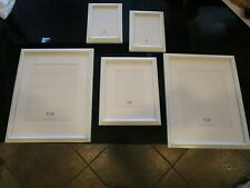5 Pottery Barn white distressed frames 2- 5X7, 2-8X10, 2- 11x14 New wo box