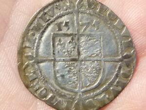 1575 Elizabeth 1 Sixpence Hammered Silver mm Eglantine  S2572  #LB19