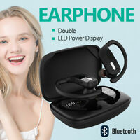 Bluetooth Headset 5.0 TWS Wireless Earphones Earbuds Headphones Stereo Ear Hook