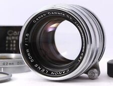 Exc+++++ Canon 50mm F1.8 metal Lens Leica Screw Mount LTM L39 w/Hood From Japan